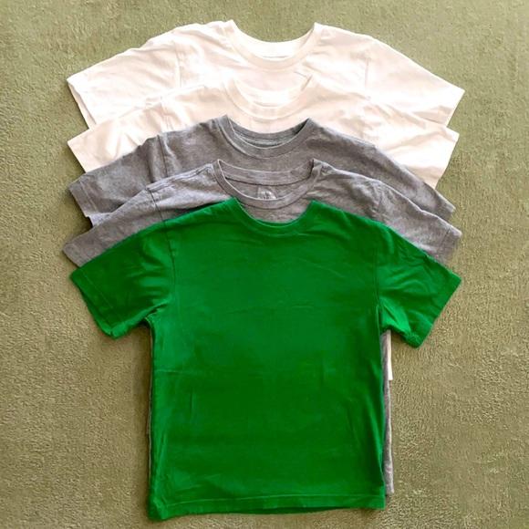 5 Boy plain T-shirts size 7-8